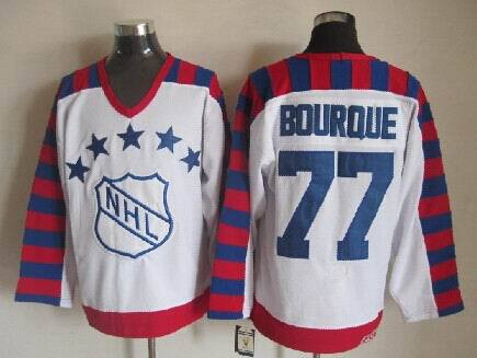 NHL1992 All Star 77 Raymond Bourque White Jerseys