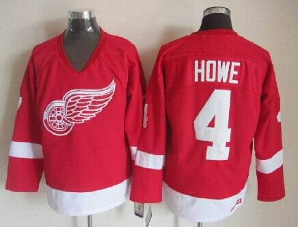 NHL Detroit Red Wings 4 Gordie Howe Red 2014 Jerseys