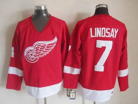 NHL Detroit Red Wings 7 Ted Lindsay Red 2014 Jerseys