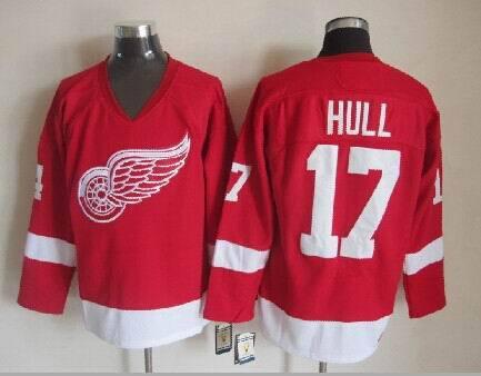 NHL Detroit Red Wings 17 Brett Hull Red 2014 Jerseys