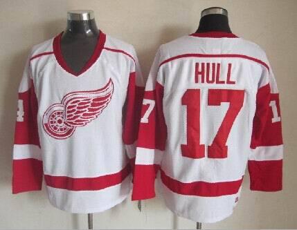 NHL Detroit Red Wings 17 Brett Hull White 2014 Jerseys