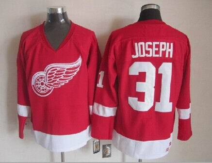 NHL Detroit Red Wings 31 Curtis Joseph Red 2014 Jerseys