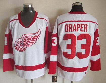 NHL Detroit Red Wings 33 Kris Draper White 2014 Jerseys