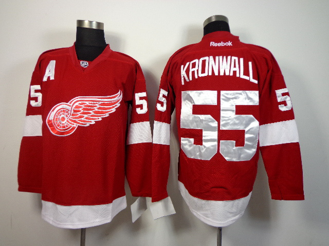 NHL Detroit Red Wings 55 Niklas Kronwall Red 2014 Jerseys