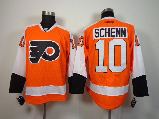 NHL Philadelphia Flyers 10 Brayden Schenn orange 2014 Jerseys