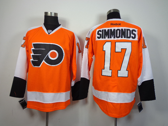 NHL Philadelphia Flyers 17 Wayne Simmonds Orange 2014 Jerseys