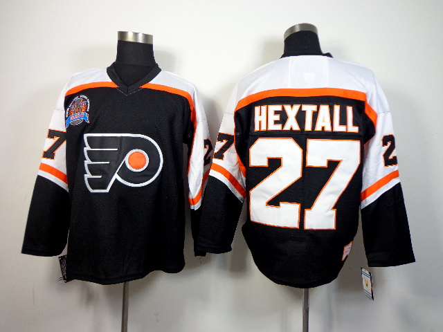 NHL Philadelphia Flyers 27 Ron Hextall Black 2014 Jerseys