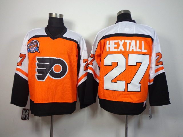 NHL Philadelphia Flyers 27 Ron Hextall orange With Patch 2014 Jerseys