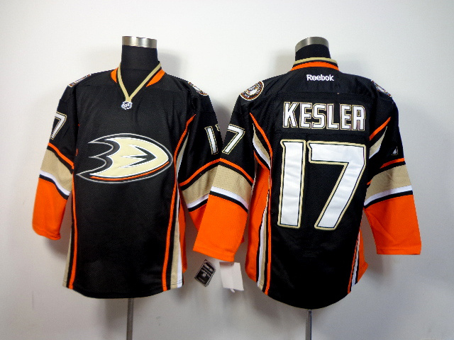 NHL Anaheim Ducks 17 Ryan Kesler Black Third 2014 Jersey