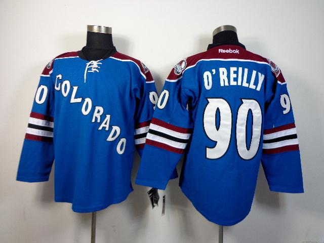 NHL Colorado Avalanche 90 Ryan O'Reilly Blue 2014 Jersey