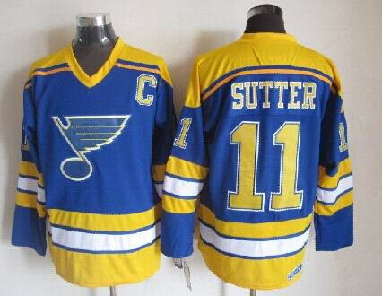 NHL St. Louis Blues 11 Sutter Blue 2014 Jersey