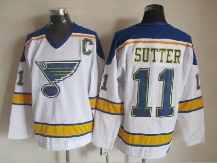 NHL St. Louis Blues 11 Sutter White 2014 Jersey