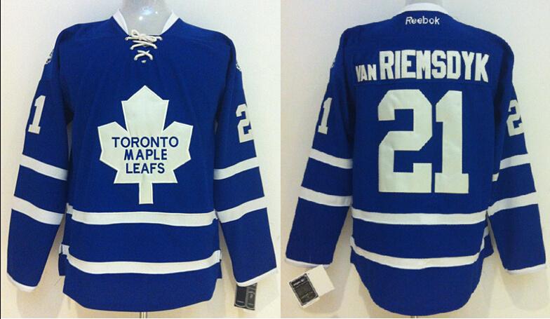 NHL Toronto Maple Leafs 21 James Van Riemsdyk Blue 2014 Jersey