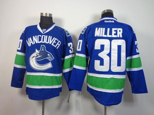 NHL Vancouver Canucks 30 Miller Blue 2014 Jersey