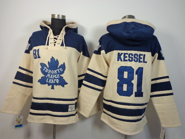 NHLToronto Maple Leafs 81 Phil Kessel Cream Pullover Hooded Sweatshirt
