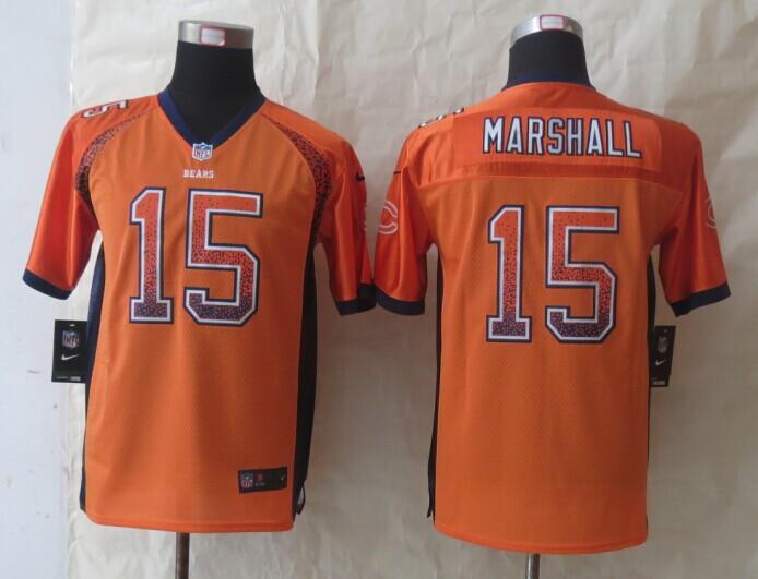 Youth Chicago Bears 15 Marshall Drift Fashion Orange 2014 New Nike Elite Jerseys