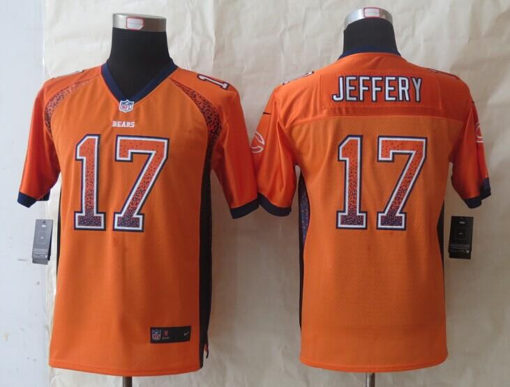 Youth Chicago Bears 17 Jeffery Drift Fashion Orange 2014 New Nike Elite Jerseys