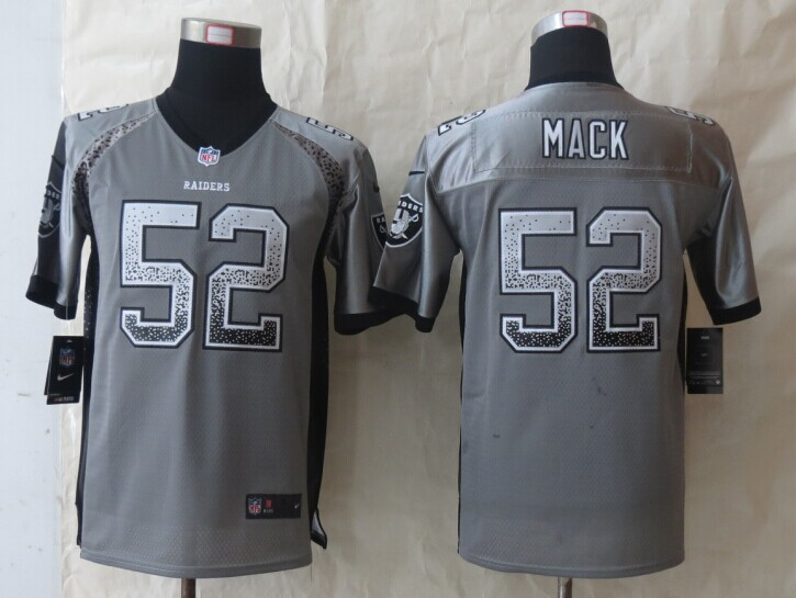 Youth Okaland Raiders 52 Mack Drift Fashion Grey 2014 New Nike Elite Jerseys