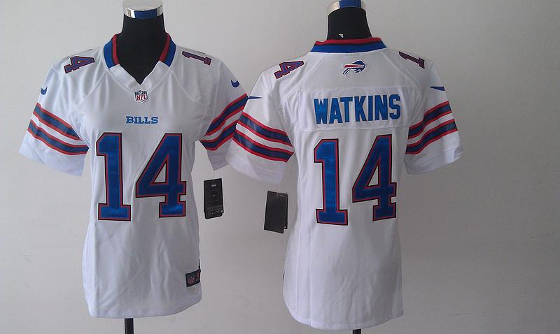 Womens Buffalo Bills 14 Sammy Watkins White 2014 Nike Jersey