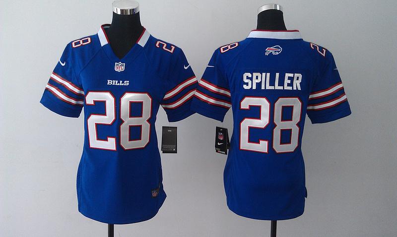Womens Buffalo Bills 28 CJ Spiller Blue 2014 Nike Jersey