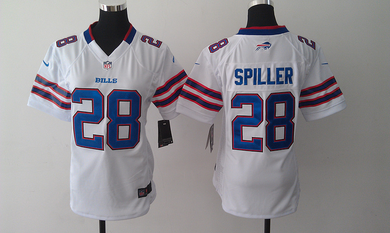 Womens Buffalo Bills 28 CJ Spiller White 2014 Nike Jersey