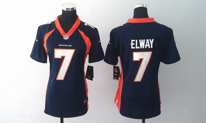 Womens Denver Broncos 7 John Elway Dark Blue 2014 Nike Jersey