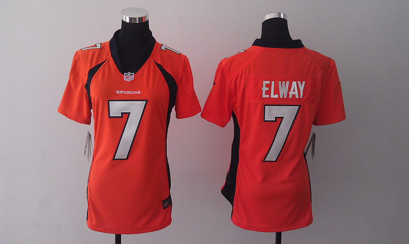 Womens Denver Broncos 7 John Elway Orange 2014 Nike Jersey