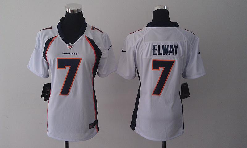 Womens Denver Broncos 7 John Elway white 2014 Nike Jersey