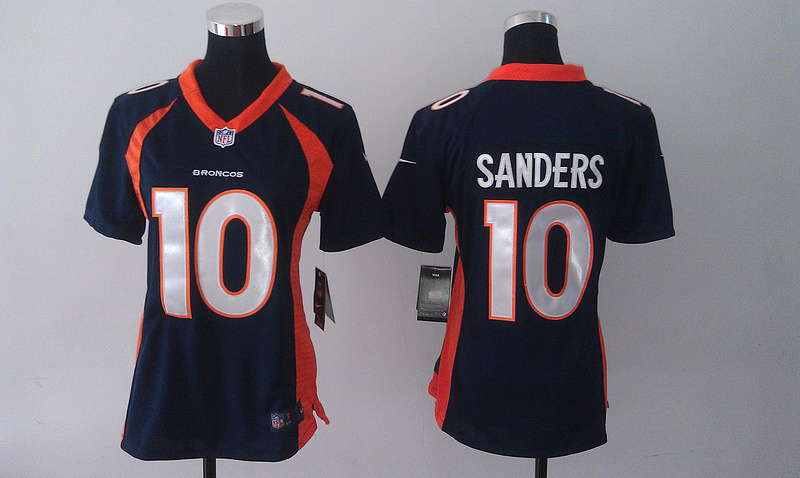 Womens Denver Broncos 10 Emmanuel Sanders Blue 2014 Nike Jersey