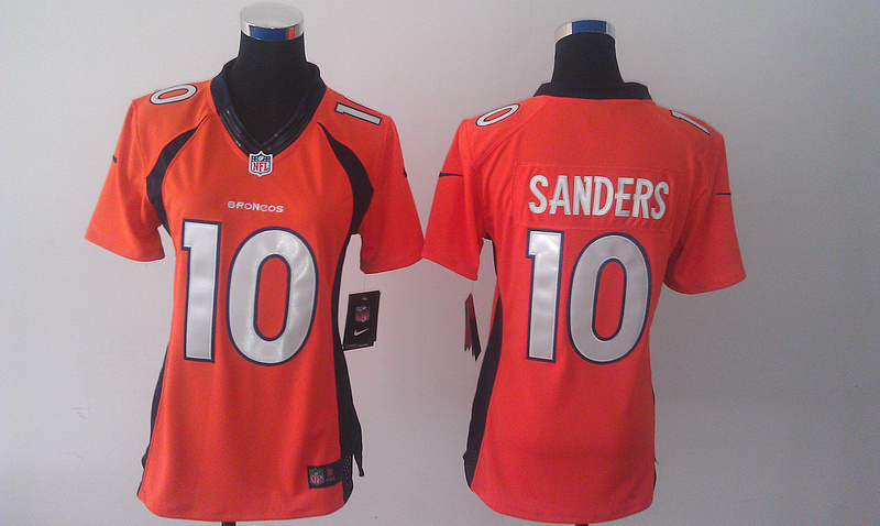 Womens Denver Broncos 10 Emmanuel Sanders Orange 2014 Nike Jersey
