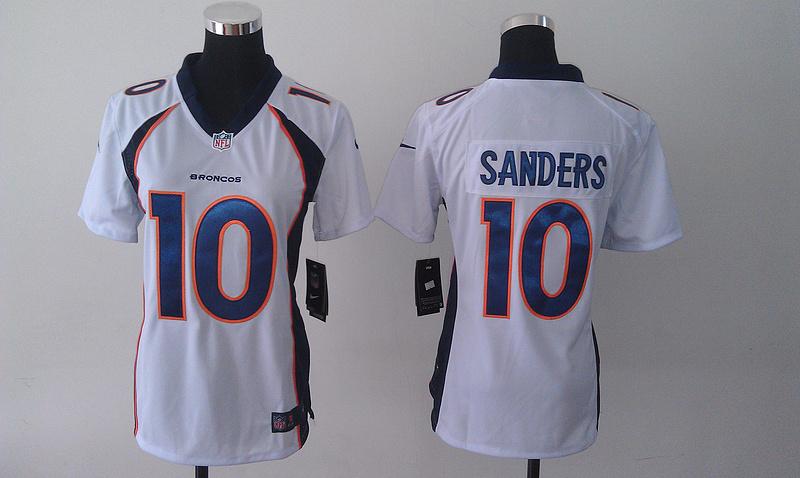 Womens Denver Broncos 10 Emmanuel Sanders White 2014 Nike Jersey