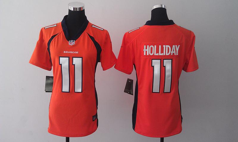 Womens Denver Broncos 11 Trindon Holliday Orange 2014 Nike Jersey