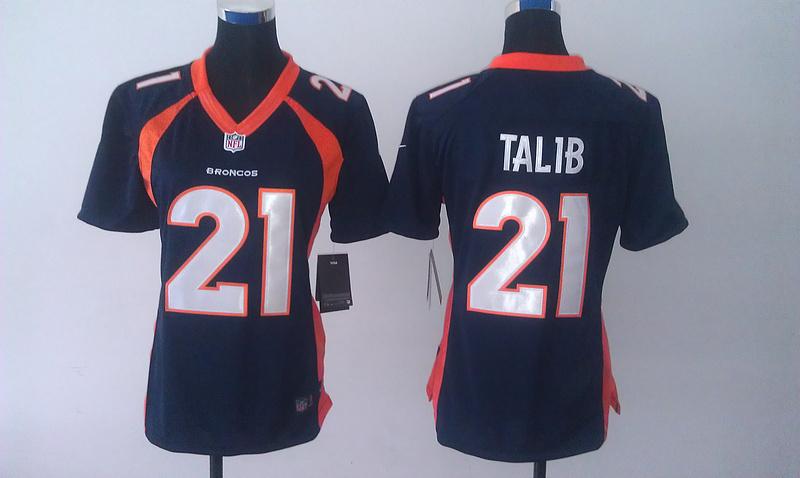 Womens Denver Broncos 21 Aqib Talib Blue 2014 Nike Jersey