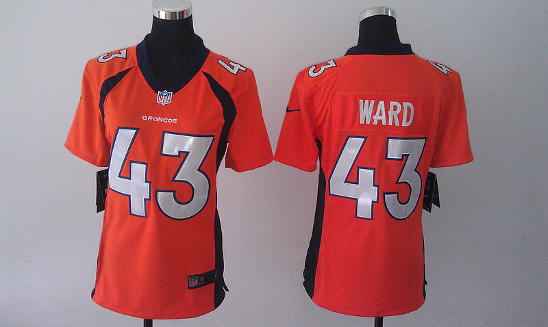 Womens Denver Broncos 43 T.J. Ward Orange 2014 Nike Jersey