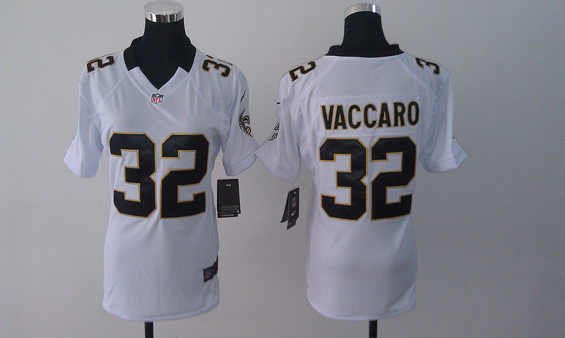 Womens New Orleans Saints 32 Kenny Vaccaro White 2014 Nike Jersey