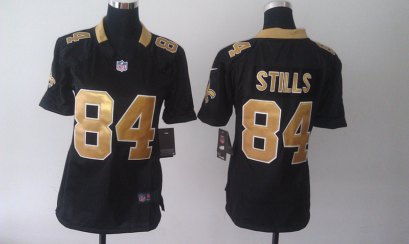 Womens New Orleans Saints 84 Kenny Stills Black 2014 Nike Jersey