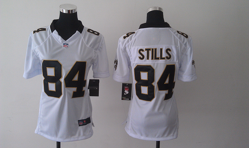 Womens New Orleans Saints 84 Kenny Stills White 2014 Nike Jersey