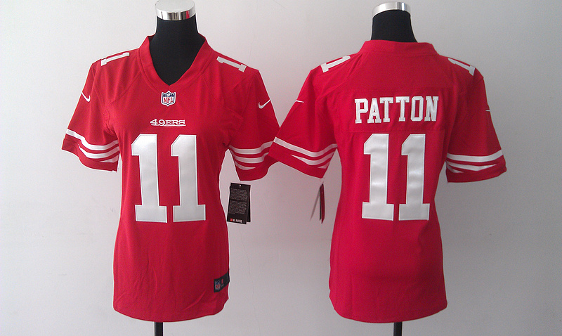 Womens San Francisco 49ers 11 Quinton Patton Red 2014 Nike Jersey