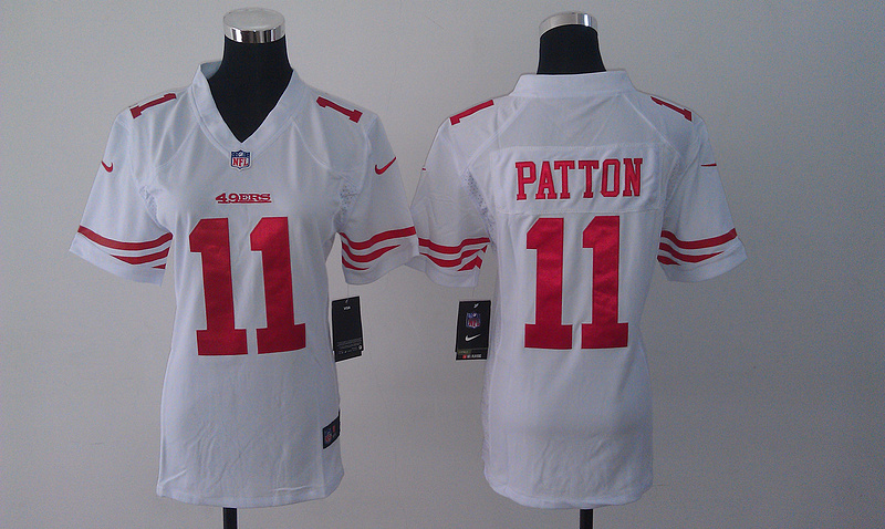 Womens San Francisco 49ers 11 Quinton Patton white 2014 Nike Jersey