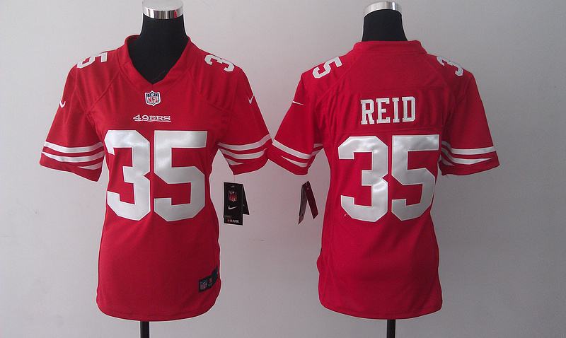 Womens San Francisco 49ers 35 Eric Reid Red 2014 Nike Jersey