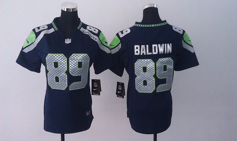 Womens Seattle Seahawks 89 Doug Baldwin Blue 2014 Nike Jersey
