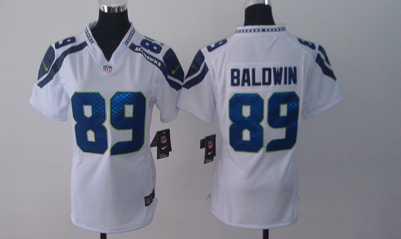 Womens Seattle Seahawks 89 Doug Baldwin White 2014 Nike Jersey