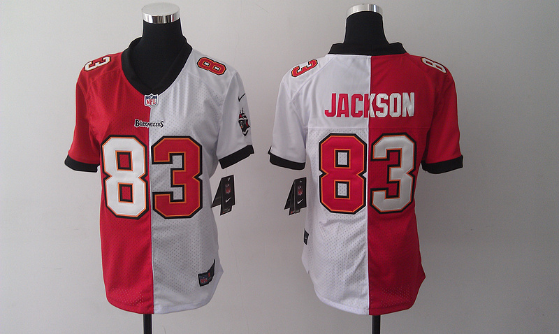 Womens Tampa Bay Buccaneers 83 Vincent Jackson Red And White Nike Elite Split 2014 Jersey