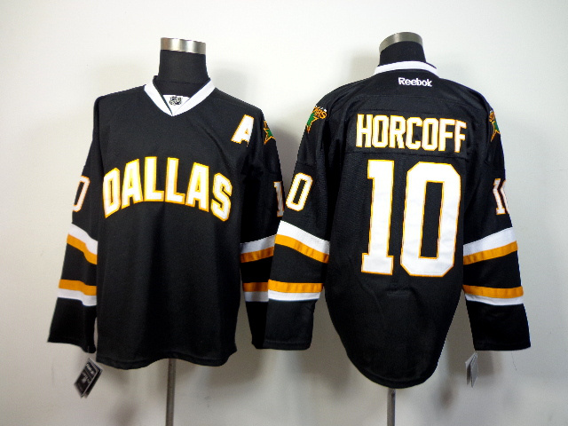 NHL Dallas Stars 10 Horcoff Black 2014 Jerseys