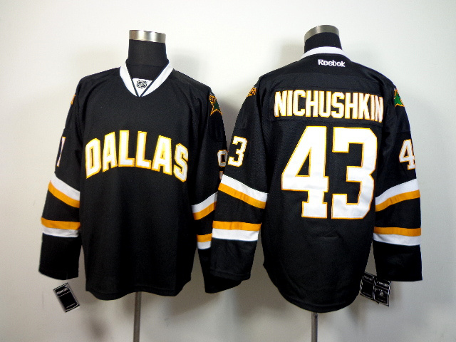 NHL Dallas Stars 43 Nichushkin Black 2014 Jerseys