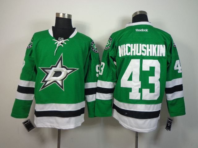 NHL Dallas Stars 43 Nichushkin Green 2014 Jerseys