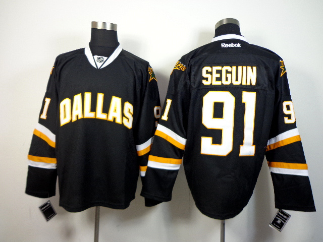NHL Dallas Stars 91 Tyler Seguin Black 2014 Jerseys