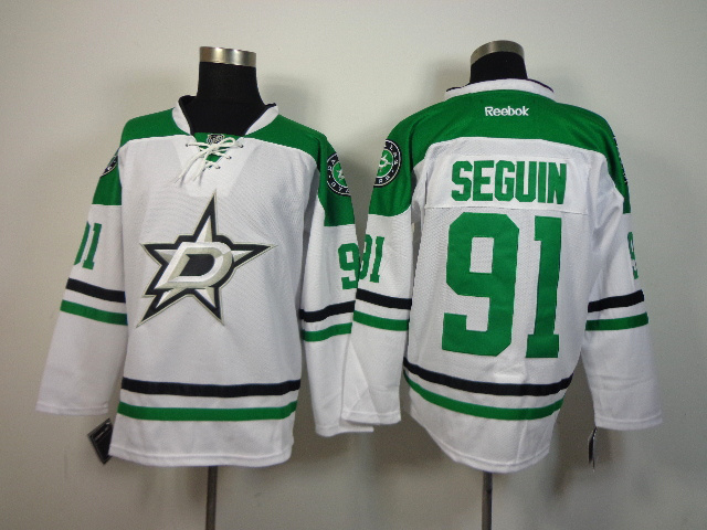 NHL Dallas Stars 91 Tyler Seguin White 2014 Jerseys