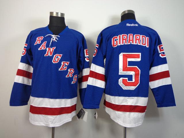 NHL New York Rangers 5 Dan Girardi Blue 2014 Jerseys