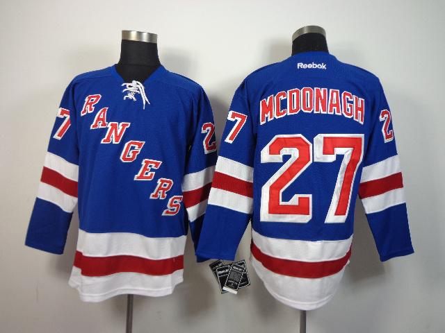 NHL New York Rangers 27 Mcdonagh Blue 2014 Jerseys